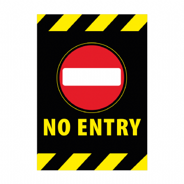 No Entry - Black Background